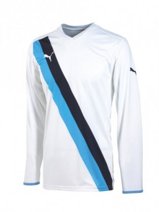Puma Diagonal LS Teamwear Shirt (white-blue)