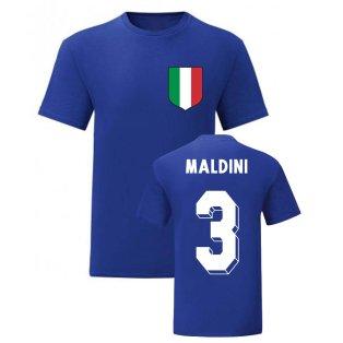 Paolo Maldini Italy National Hero Tee\'s (Blue)
