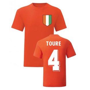 Kolo Toure Ivory Coast National Hero Tee (Orange)