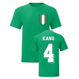 Nwankwo Kanu Nigeria National Hero Tee (Green)