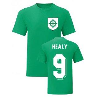 David Healy Northern Ireland National Hero Tee (Green)