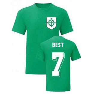 George Best Northern Ireland National Hero Tee (Green)