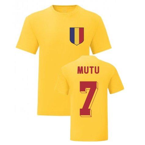 Adrian Mutu Romania National Hero Tee (Yellow)