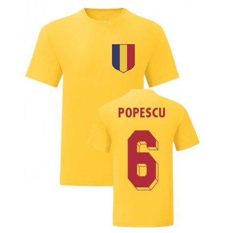 Gheorghe Popescu Romania National Hero Tee (Yellow)