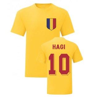 Gheorghe Hagi Romania National Hero Tee (Yellow)