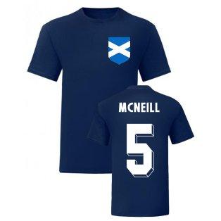 Billy McNeill Scotland National Hero Tee (Navy)