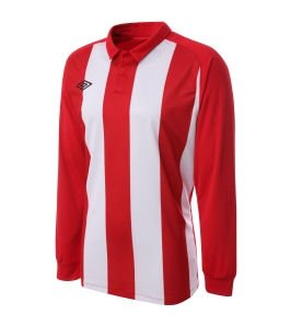 Umbro Clifton LS Teamwear Shirt (red-white)