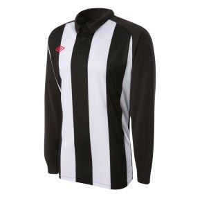 Umbro Clifton LS Teamwear Shirt (black-white)