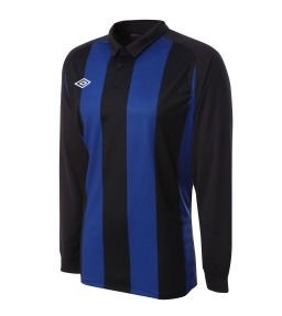 Umbro Clifton LS Teamwear Shirt (blue-black)