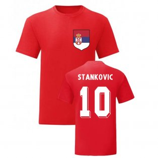 Dejan Stankovic Serbia National Hero Tee (Red)