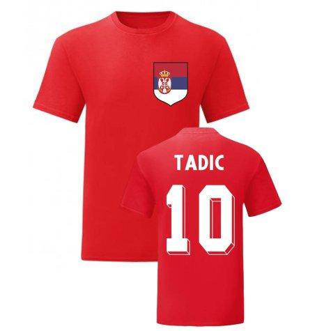 Dusan Tadic Serbia National Hero Tee (Red)