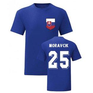 Lubomir Moravcik Slovakia National Hero Tee (Blue)