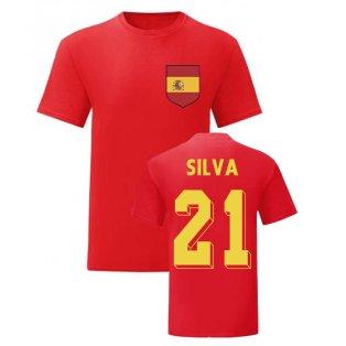 David Silva Spain National Hero Tee (Red)