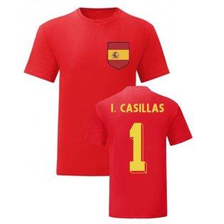 Iker Casillas Spain National Hero Tee (Red)