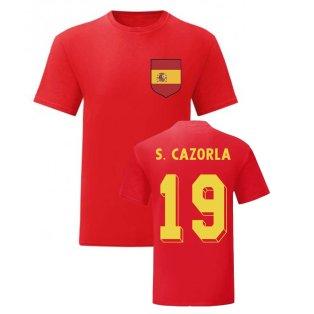 Santi Cazorla Spain National Hero Tee (Red)