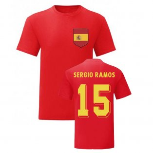 Sergio Ramos Spain National Hero Tee (Red)