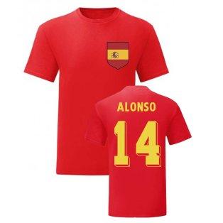 Xabi Alonso Spain National Hero Tee (Red)