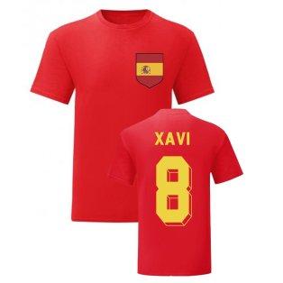 Xavi Spain National Hero Tee (Red)