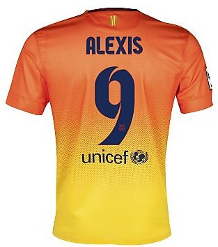 2012-13 Barcelona Nike Away Shirt (Alexis 9)