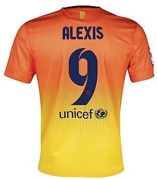 2012-13 Barcelona Nike Away Shirt (Alexis 9)