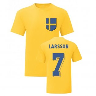 Henrik Larsson Sweden National Hero Tee (Yellow)