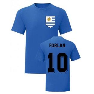 Diego Forlan Uruguay National Hero Tee (Blue)