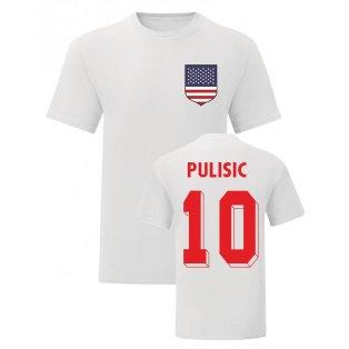 Christian Pulisic USA National Hero Tee (White)
