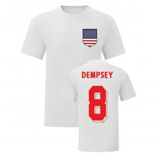 Clint Dempsey USA National Hero Tee (White)