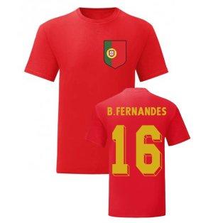 Bruno Fernandes Portugal National Hero Tee (Red)