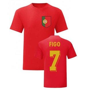 Luis Figo Portugal National Hero Tee (Red)