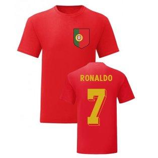 Cristiano Ronaldo Portugal National Hero Tee (Red)