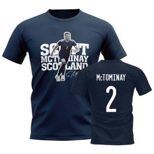 Scott McTominay Scotland Player Tee (Navy)