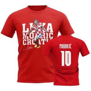 Luka Modric Croatia Player Tee (Red)