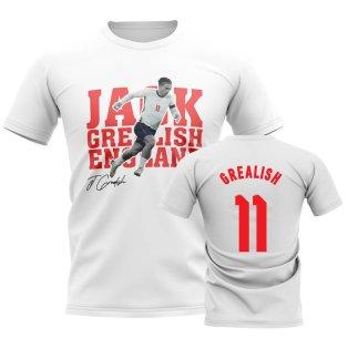 Jack Grealish England Player Tee (White)