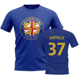 Scott Arfield 55 Times Champions T-Shirt (Blue)