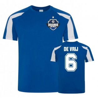 Stefan De Vrij Inter Milan Sports Training Jersey (Blue)