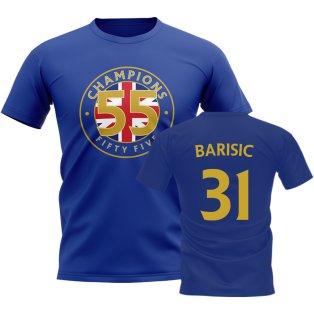 Borna Barisic 55 Times Champions T-Shirt (Blue)