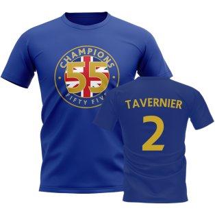 James Tavernier 55 Times Champions T-Shirt (Blue)