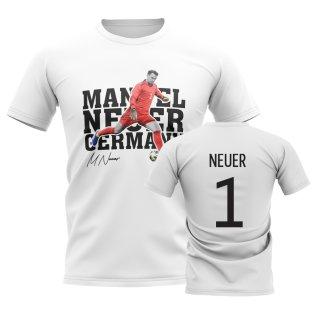 Manuel Neuer Germany Player Tee (White)