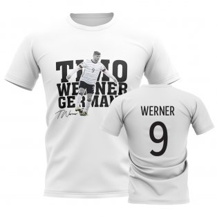 Timo Werner Germany Player Tee (White)