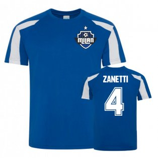 Javier Zanetti Inter Milan Sports Training Jersey (Blue)