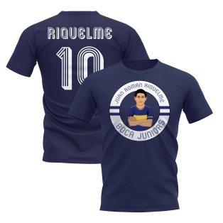 Juan Roman Riquelme Boca Illustration T-Shirt (Navy)