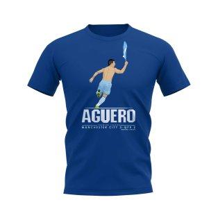 Sergio Aguero T-Shirt (Blue)