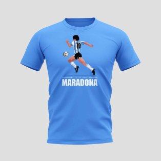 Diego Maradona Player T-Shirt (Sky Blue)