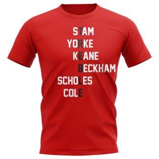 Manchester Treble Team T-Shirt (Red)