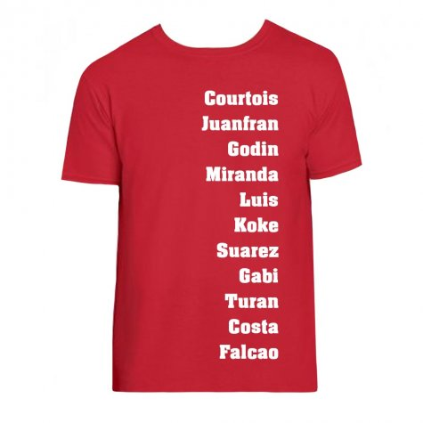 Madrid Favourite XI Tee (Red)
