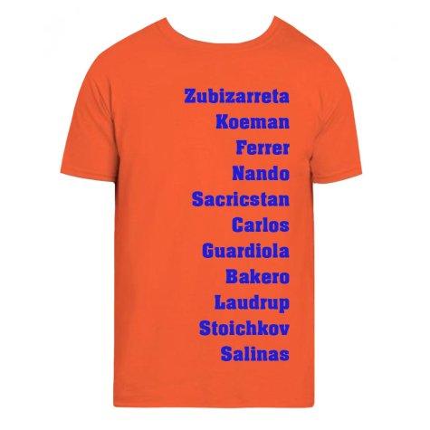 Barcelona Favourite XI Tee (Orange)