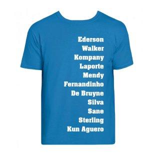 Manchester Favourite XI Tee (Sky Blue)