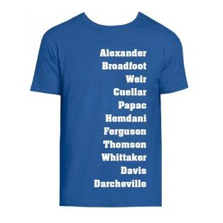 Rangers Favourite XI Tee (Blue)