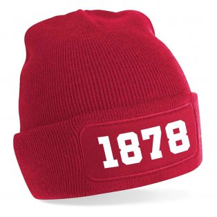 Manchester 1878 Football Beanie Hat (Red)
